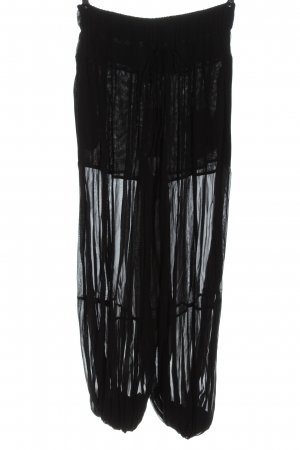 Jucca Pantalón abombado negro look casual