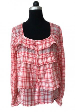 Jucca Hemd-Bluse rot-pink Karomuster Casual-Look