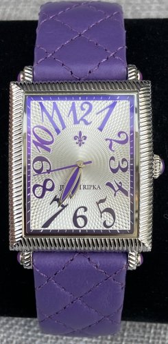 Judith Ripka Watch With Leather Strap silver-colored-lilac