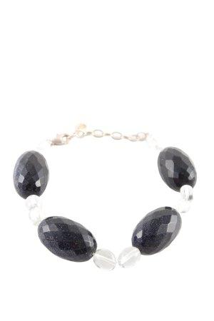 Judith Williams Armband schwarz-weiß Elegant