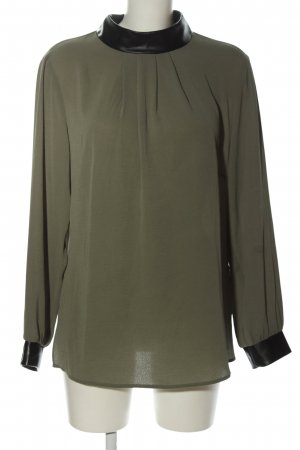Judith Williams I love Milano Langarm-Bluse khaki-schwarz Casual-Look