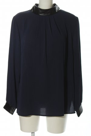 Judith Williams I love Milano Stehkragenbluse blau-schwarz Business-Look