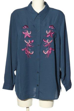 Judith Williams Langarm-Bluse blau-pink Casual-Look