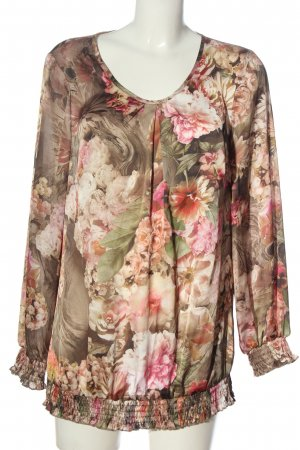 Judith Williams Langarm-Bluse Allover-Druck Casual-Look