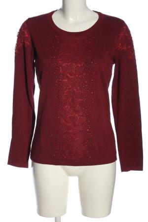 Judith Williams Langarm-Bluse rot Casual-Look