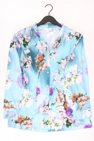 Judith Williams Langarmbluse Größe 50 mit Blumenmuster blau aus Polyester