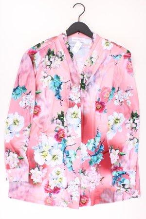 Judith Williams Langarmbluse Größe 50 mit Blumenmuster rosa aus Polyester