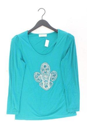 Judith Williams Longsleeve-Shirt Größe 38 Langarm blau aus Polyester
