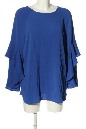 Judith Williams Rüschen-Bluse blau Business-Look