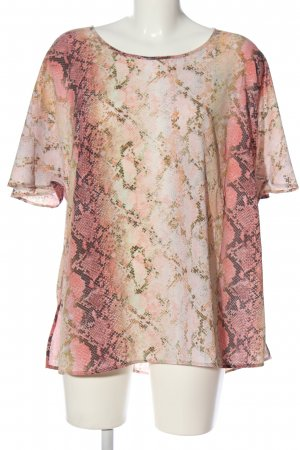 Judith Williams Schlupf-Bluse pink-wollweiß Allover-Druck Casual-Look