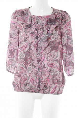 Judith Williams Schluppen-Bluse pink-wollweiß abstraktes Muster Casual-Look