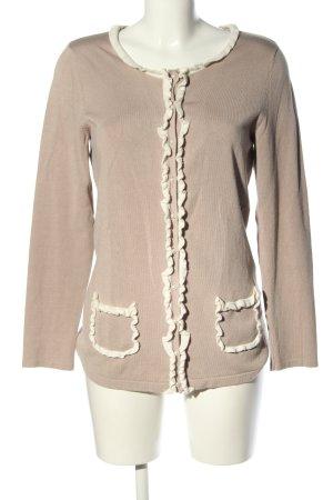 Judith Williams Giacca-camicia marrone-bianco sporco stile casual