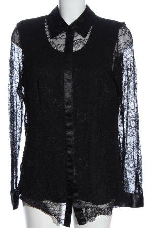 Judith Williams Koronkowa bluzka czarny Siateczkowy wzór W stylu casual