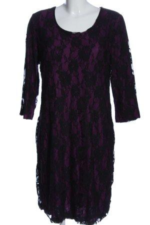 Judith Williams Spitzenkleid pink-schwarz Blumenmuster Elegant