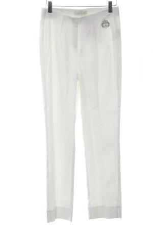 Judith Williams Stretchhose weiß-silberfarben Casual-Look