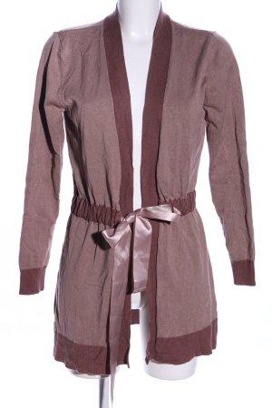 Judith Williams Manteau en tricot rose moucheté style décontracté