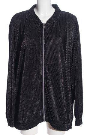 Judith Williams Übergangsjacke schwarz Streifenmuster Casual-Look