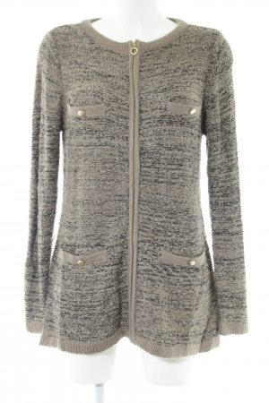 Judith Williams Wolljacke schwarz-khaki Allover-Druck Casual-Look