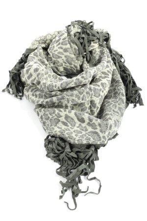 Judith Williams Bufanda de lana gris claro-blanco puro look casual