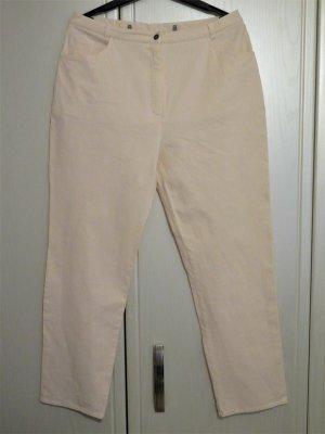 Jugendliche 5-Pocket-Jeans in Apricot, Pepita-Muster, Gr. 44-46/XL, wie neu