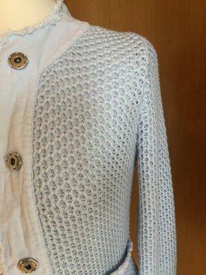 oui collection Gilet tricoté bleu azur