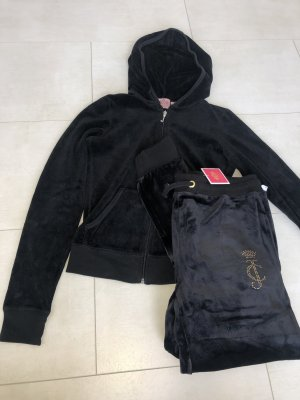 Juicy Couture Anzug velour schwarz
