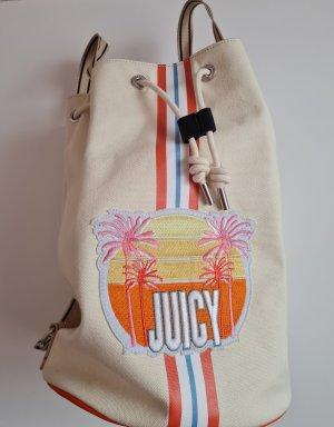 Juicy Couture Torebka materiałowa kremowy-pomarańczowy