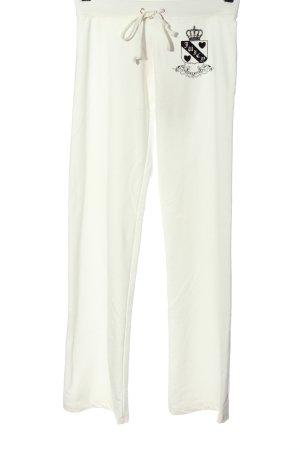 Juicy Couture Pantalón abombado blanco-negro estampado temático look casual