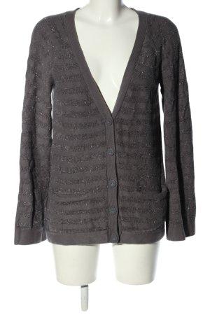 Juicy Couture Cardigan hellgrau-silberfarben Streifenmuster Casual-Look