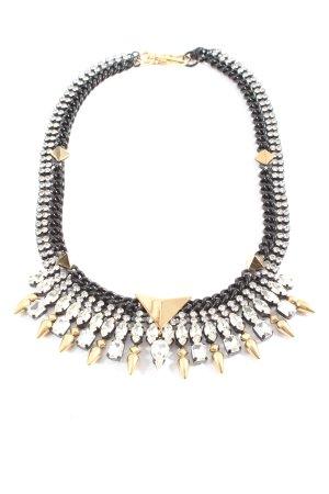 Juicy Couture Colliers ras du cou noir-doré élégant