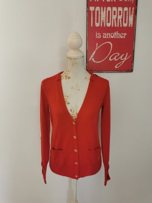 Juicy Couture Damen Feinstrick Cardigan Strickjacke rot Größe S