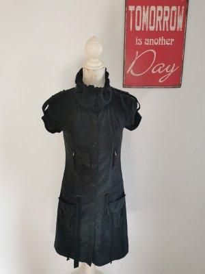 Juicy Couture Robe chemisier gris anthracite-noir soie