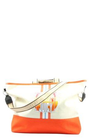 Juicy Couture Handtasche weiß-hellorange Motivdruck Casual-Look