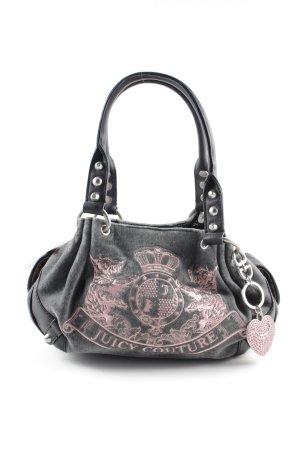 Juicy Couture Henkeltasche hellgrau-pink Motivdruck Casual-Look