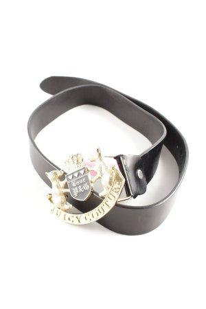 Juicy Couture Cinturón de cadera negro-color oro elegante