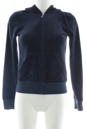 Juicy Couture Kapuzenjacke dunkelblau Samt-Optik