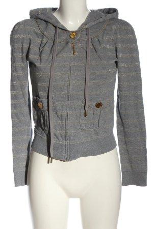 Juicy Couture Veste sweat gris clair-doré motif rayé style décontracté