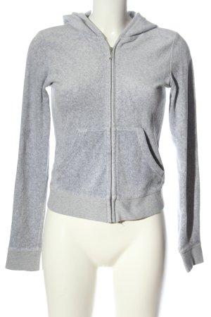 Juicy Couture Sudadera con capucha gris claro moteado look casual