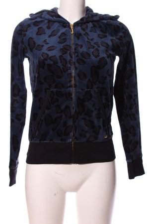 Juicy Couture Hooded Sweatshirt blue-black animal pattern casual look
