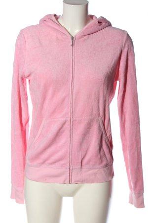 Juicy Couture Sweat à capuche rose imprimé avec thème style décontracté