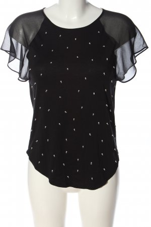 Juicy Couture Kurzarm-Bluse schwarz Casual-Look