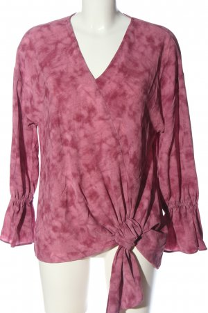 Juicy Couture Long Sleeve Blouse pink abstract pattern elegant