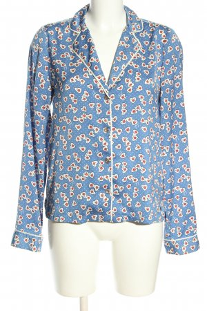 Juicy Couture Langarm-Bluse Allover-Druck Elegant