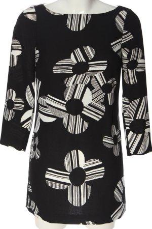 Juicy Couture Langarmkleid schwarz-weiß abstraktes Muster Casual-Look