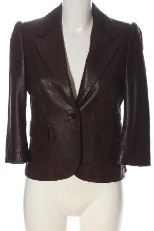 Juicy Couture Veste en cuir brun style décontracté