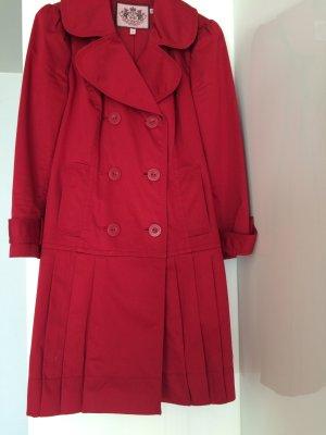 Juicy Couture Short Coat brick red cotton