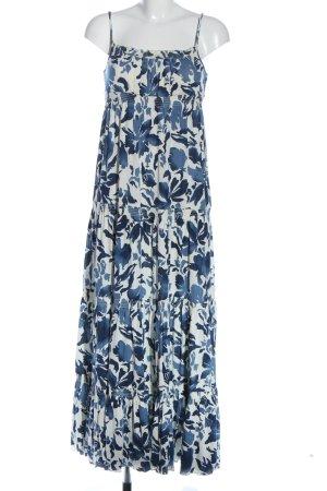 Juicy Couture Robe longue blanc-bleu imprimé allover style décontracté