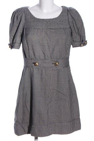 Juicy Couture Minikleid schwarz-weiß Karomuster Casual-Look