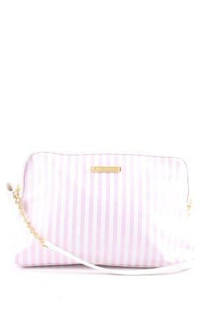Juicy Couture Minitasche weiß-pink Streifenmuster Casual-Look