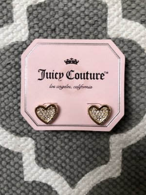 Juicy Couture Ohrstecker Ohrringe Herz Strass
